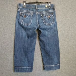 KUT from the Kloth Crop Jeans Sz 8 Thick Stitch